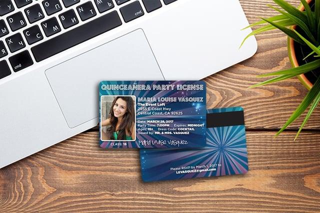 Credit Card Sized Invitation