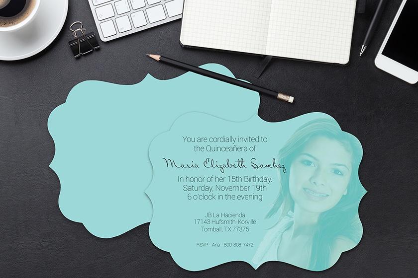 Custom Shape Die Cut Invitations