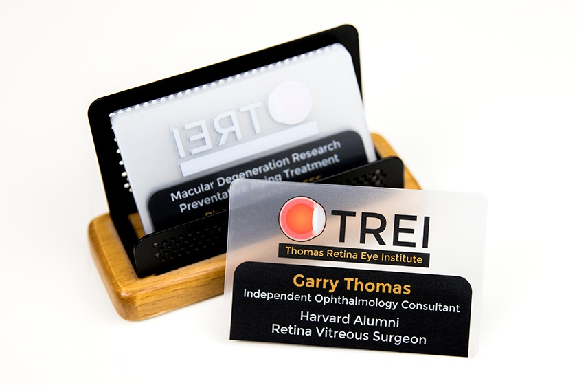Business Card Frosted TREI Thomas Retina Eye Institute