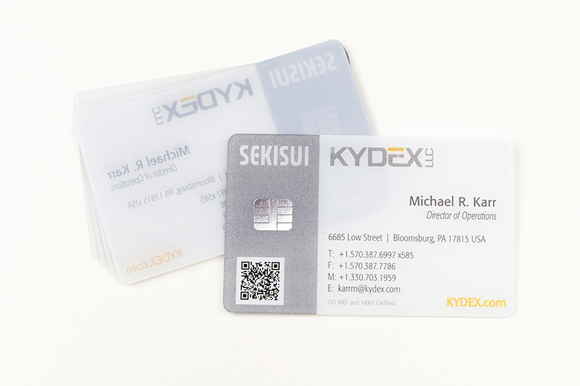 Business Card Satin Frosted Foil Chip Card Sekisui Kydex LLC
