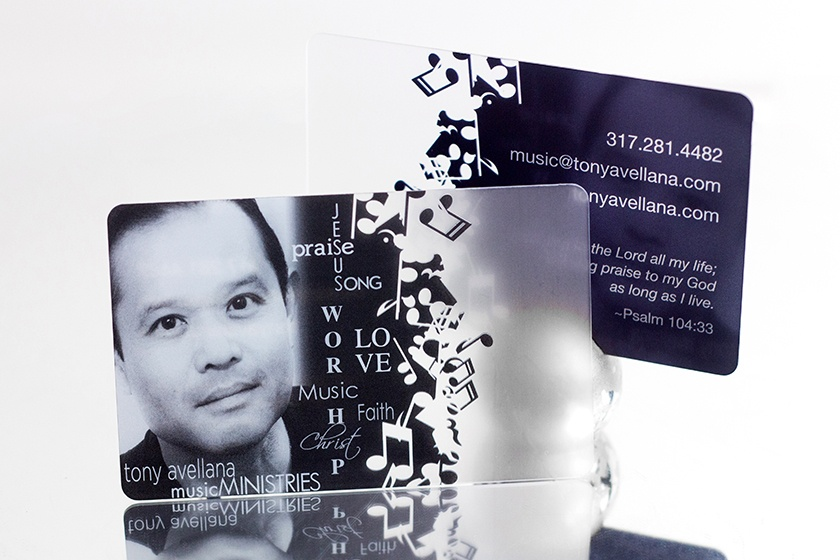 Satin Business Card Tony Avellana Music Ministries