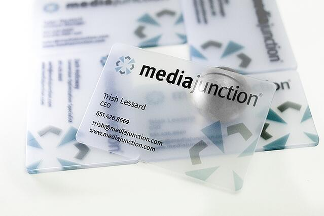 Satin Corporate Business Card Media Junction