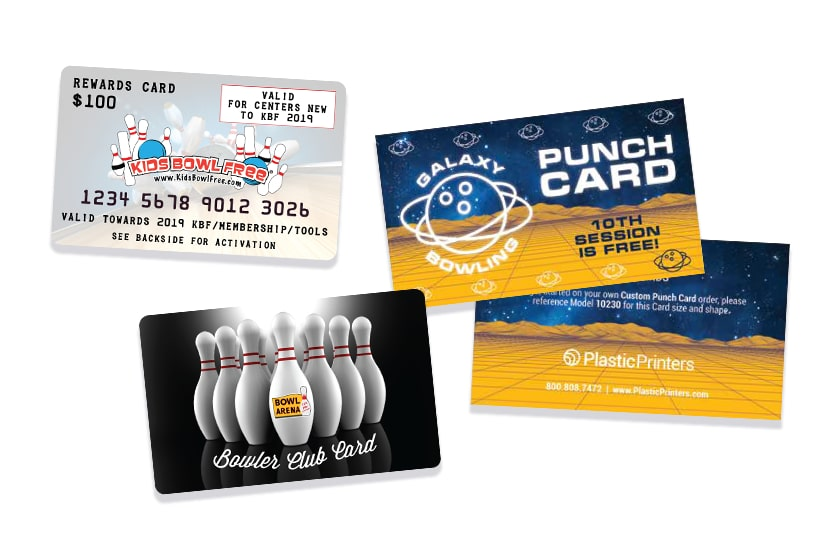 Bowling Membership Card, Rewards Card, & Punch Card