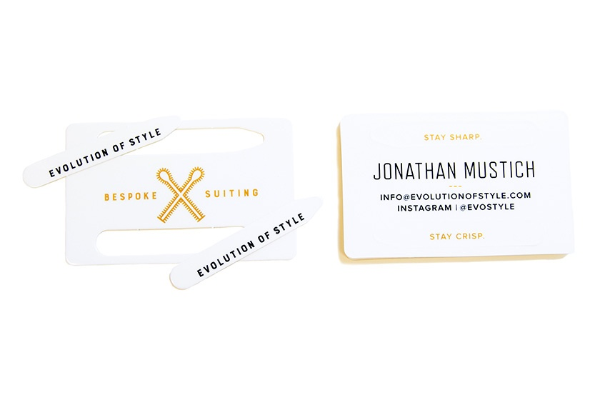 Business Card Custom Shape Collar Stays Pop Outs