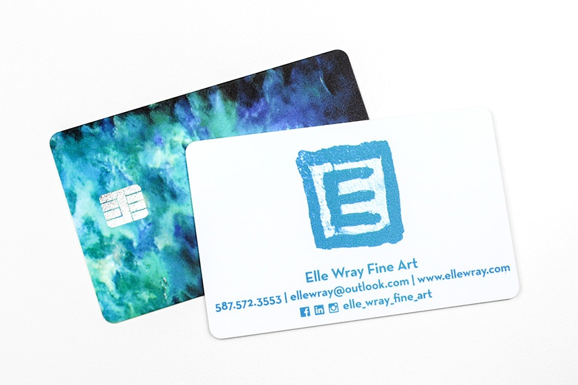 Business Card Foil Chip Card Elle Wray Fine Art