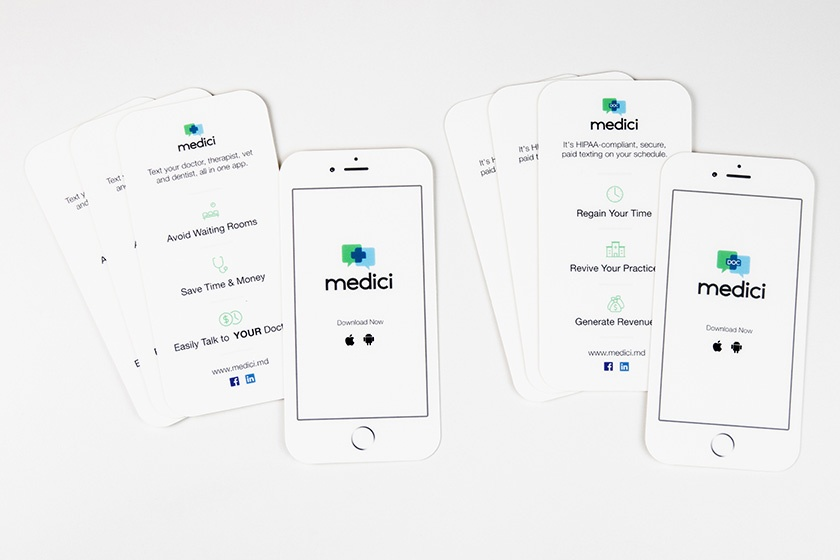 Business Card iPhone Versions Medici Medical