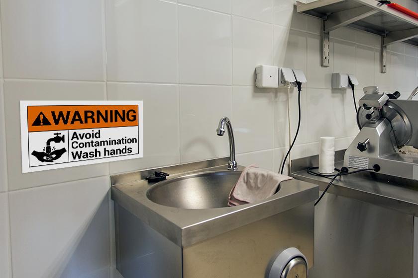 Indoor signage - warning signs