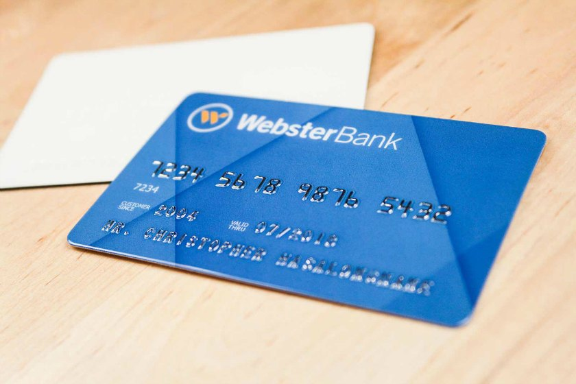 Example of Embossed Plastic Business Card for Webster Bank