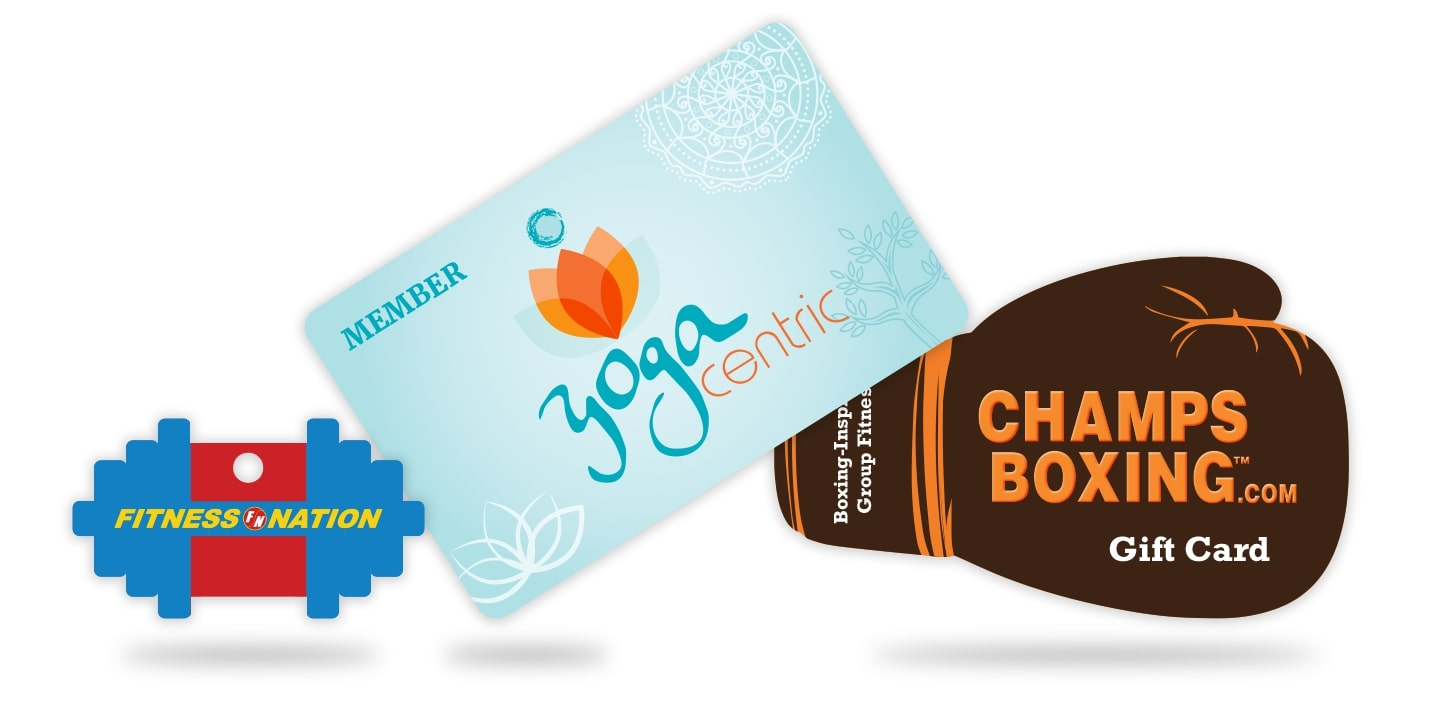 Gym Membership Gift Cards and Key Tags for your Yoga Studio or Fitness Center