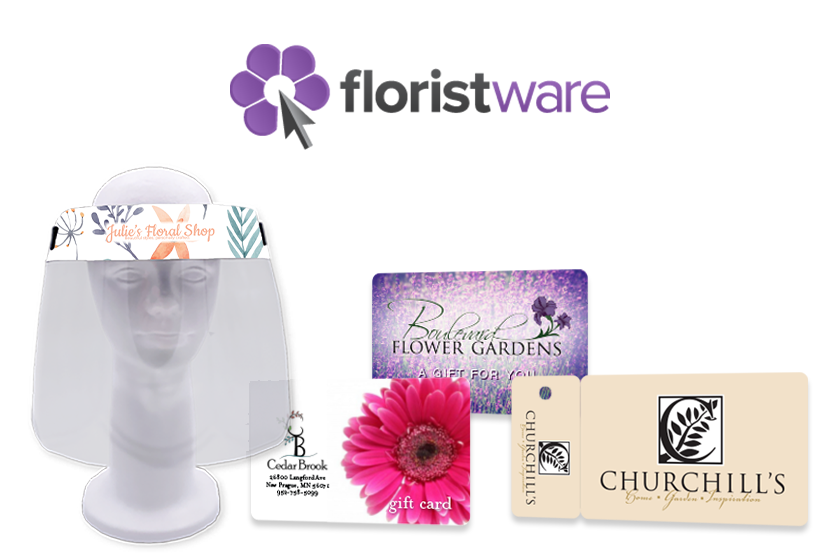 Marketing tools and PPE face shields for FloristWare