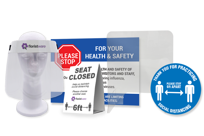 PPE and safety supplies for FloristWare