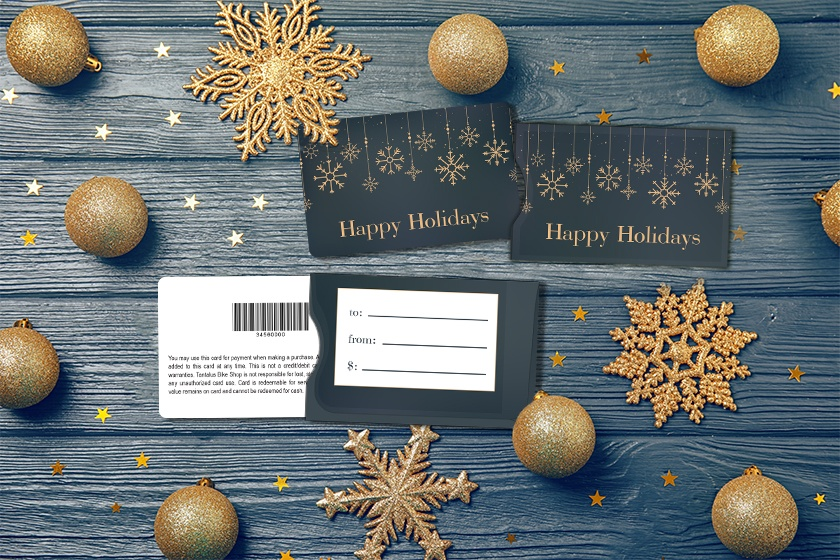 Holiday gift cards with matching sleeves