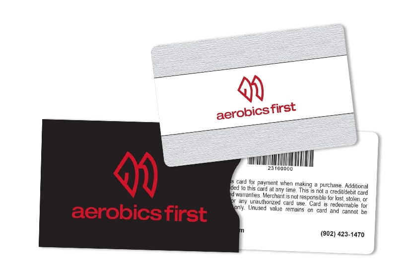 Gym Membership Gift Cards with Barcodes