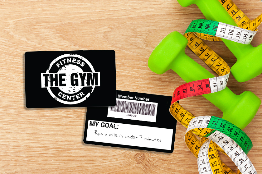 Gym Membership Cards with Writable Backs