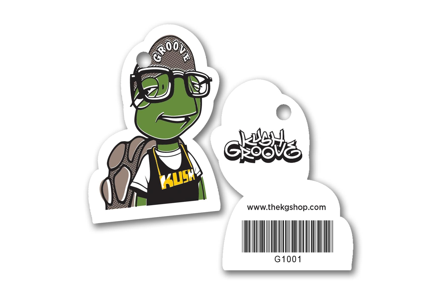 Cannabis Gift Cards and Die Cut Key Tags for Kush Groove