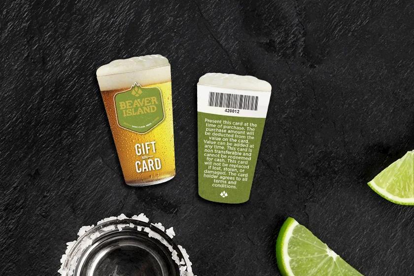 Example of custom gift card for restaurant