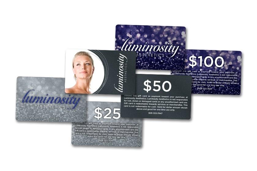 Luminosity Aesthetics Face Value Gift Cards
