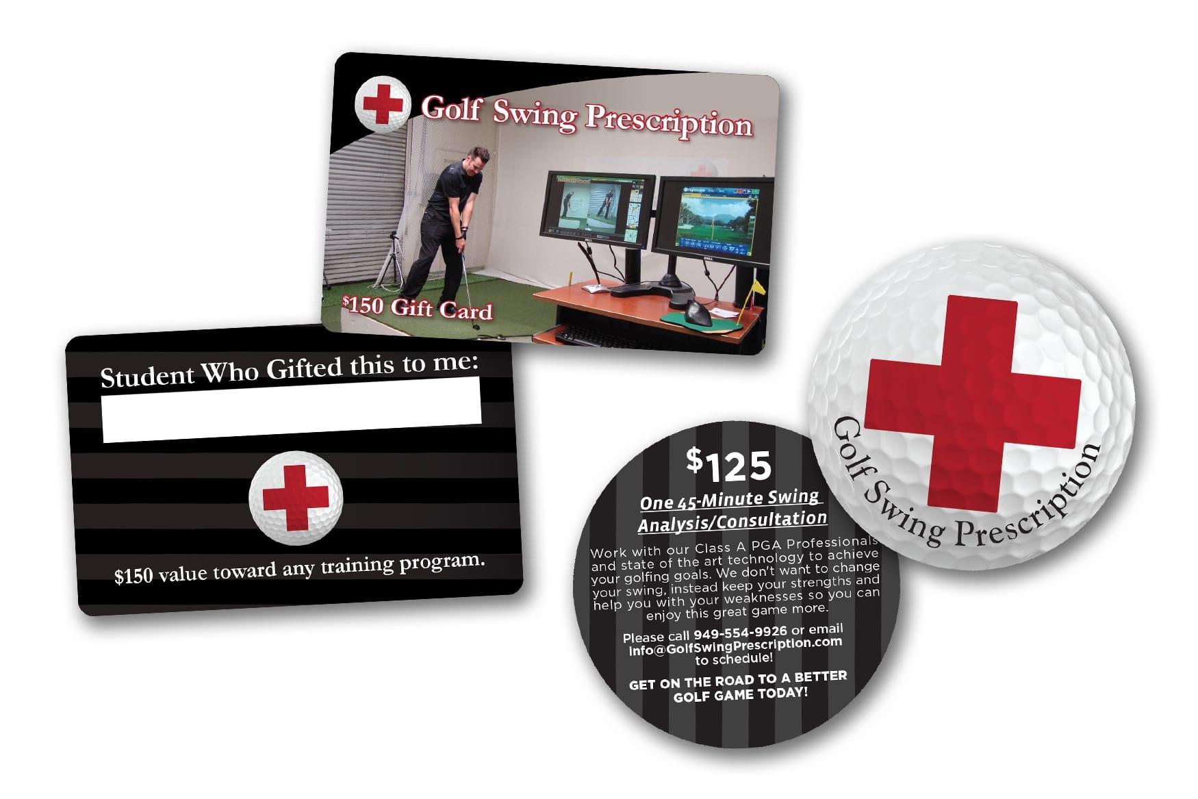 Face Value Golf Gift Cards for Golf Swing Prescription