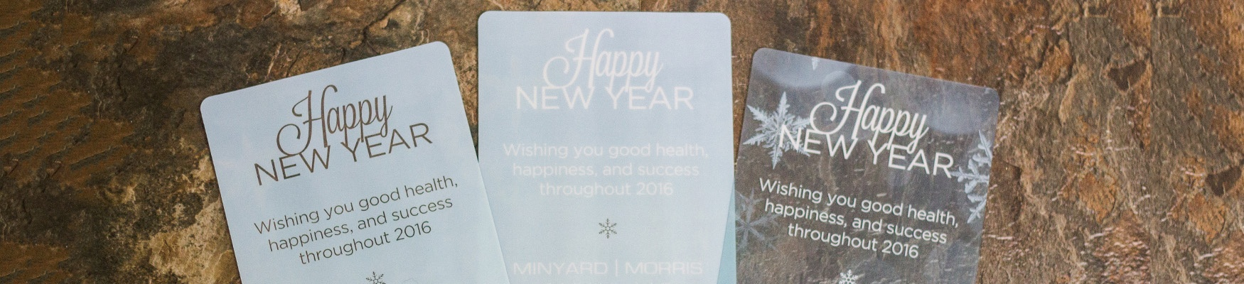 Corporate Holiday Cards on Clear Plastic