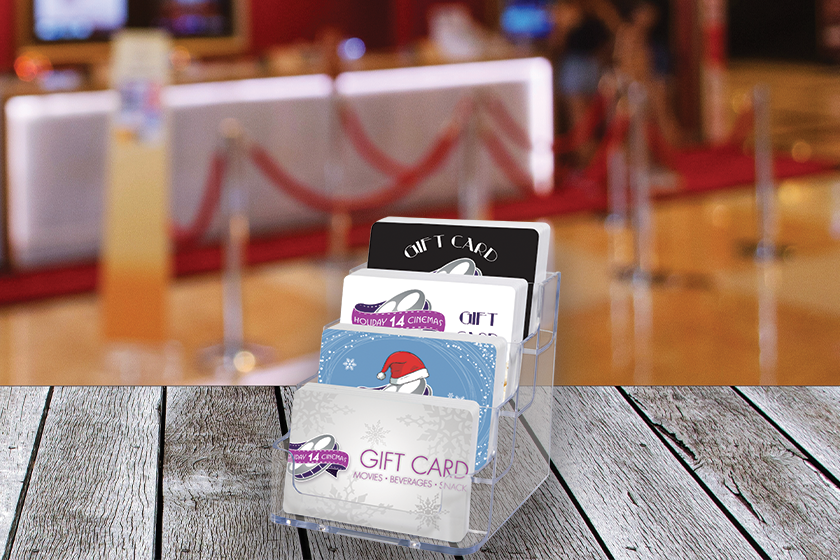 Gift card display stand can help boost gift card sales