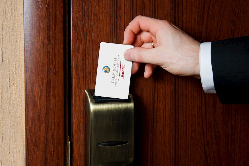 Example of Hotel Room Key Card with a Magnetic Stripe