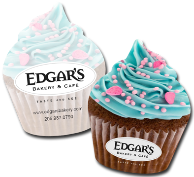Cupcake Business Card for Edgars Bakery & Cafe