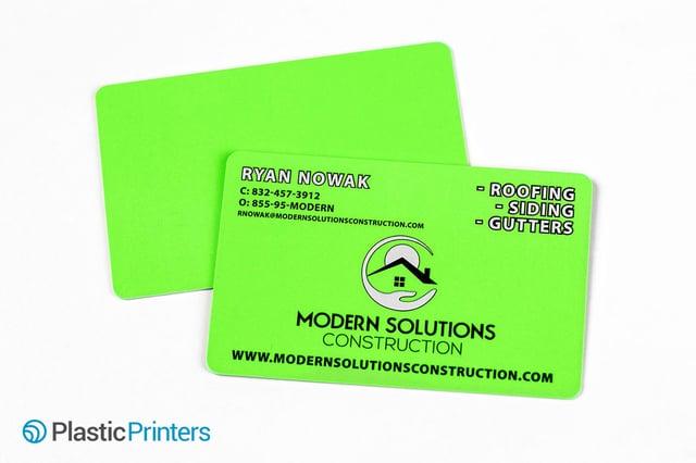 Top 10 business card ideas for construction marketing florescent plastic cards colourmoves Images