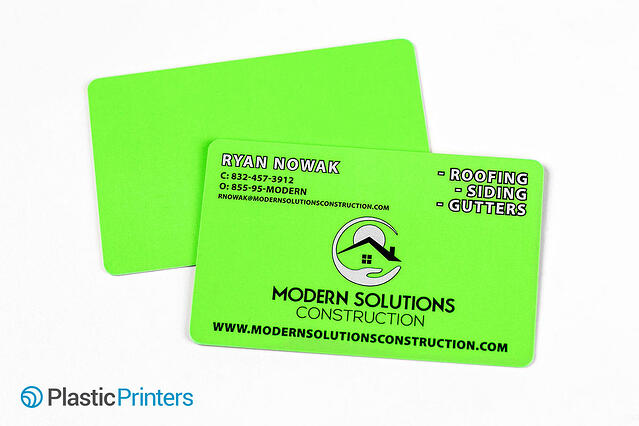 Top 10 business card ideas for construction marketing florescent plastic cards colourmoves
