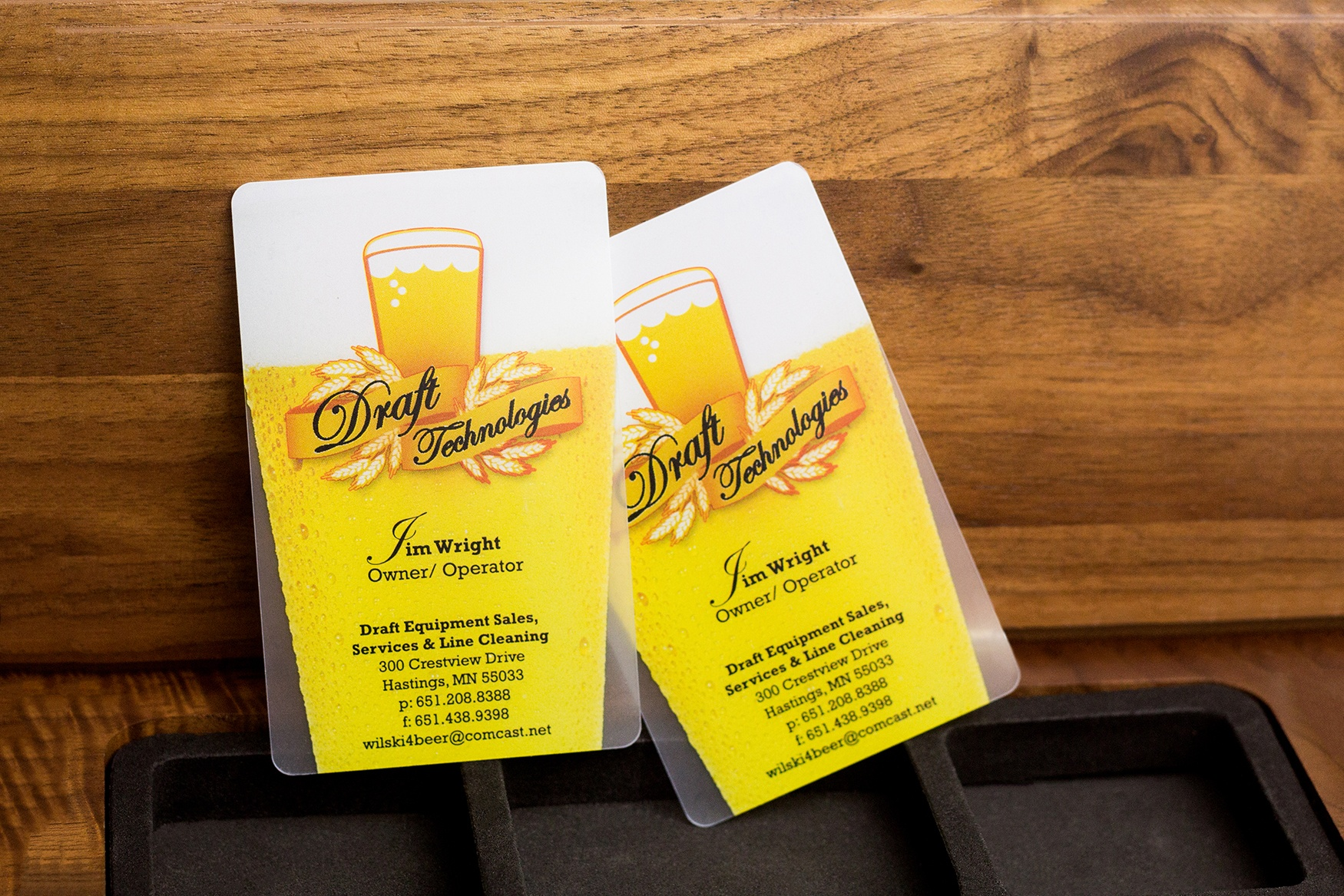 Examples of a Custom Frosted Business Card