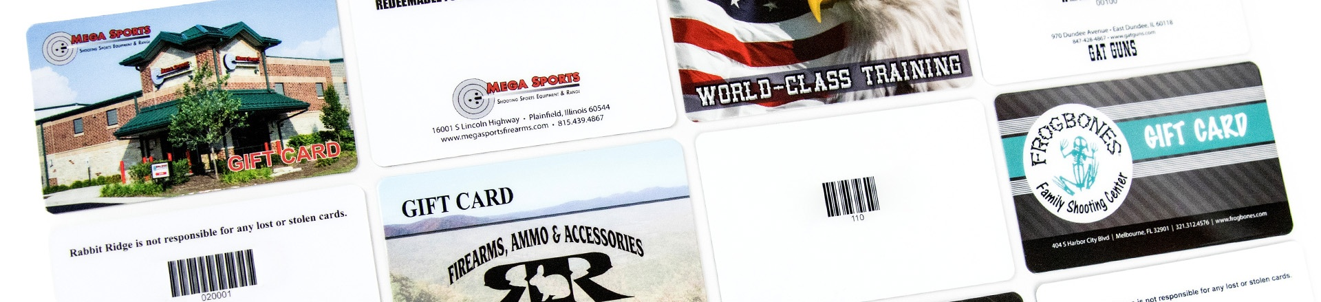Shooting Range Gift Cards
