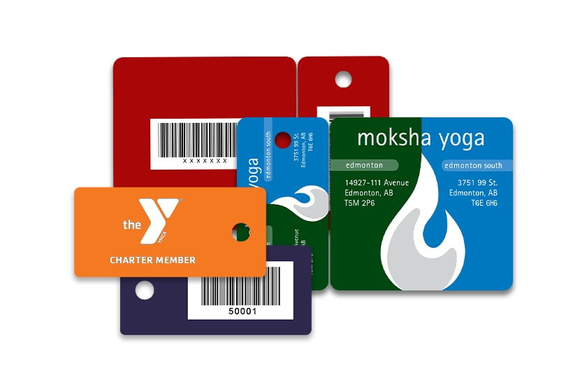Custom Printed Plastic Membership Key Tags with Barcode