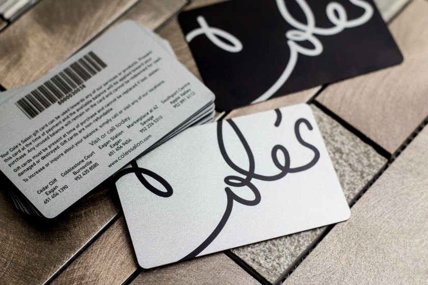 example of metal business card