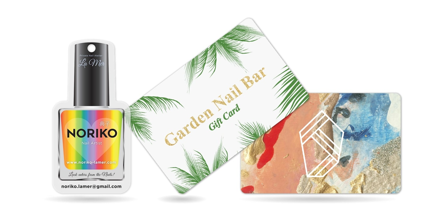 Nail Salon Business Cards and Gift Cards