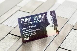 Platinum Business Card Pure Image Tattoo and Piercing