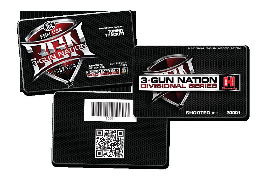 Gun Association Membership Cards with custom barcode and QR code