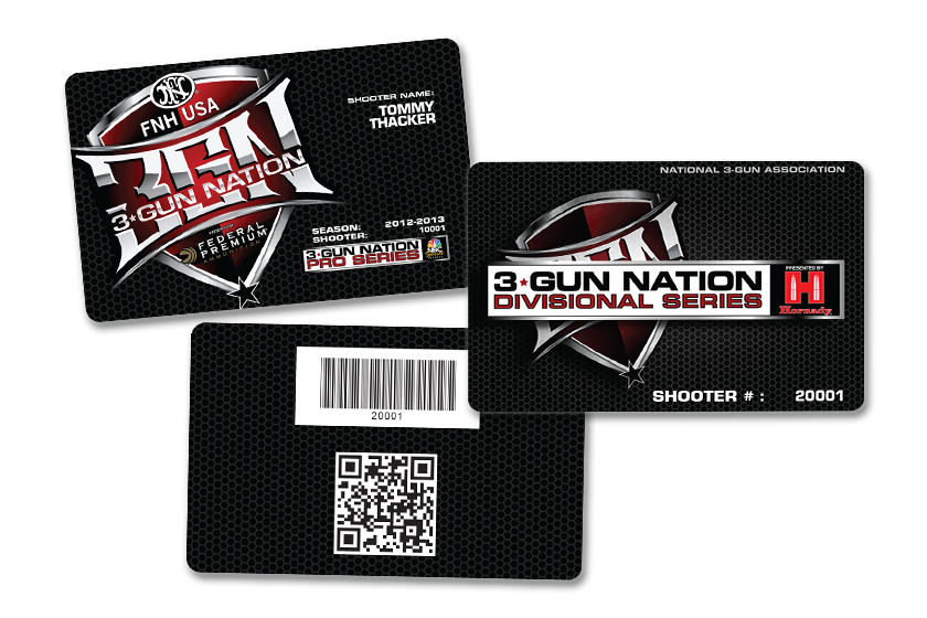 Gun Association Membership Cards with custom barcode and QR code