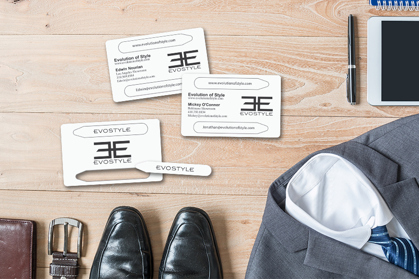 Credit Card Size Business Cards with Pop-Out