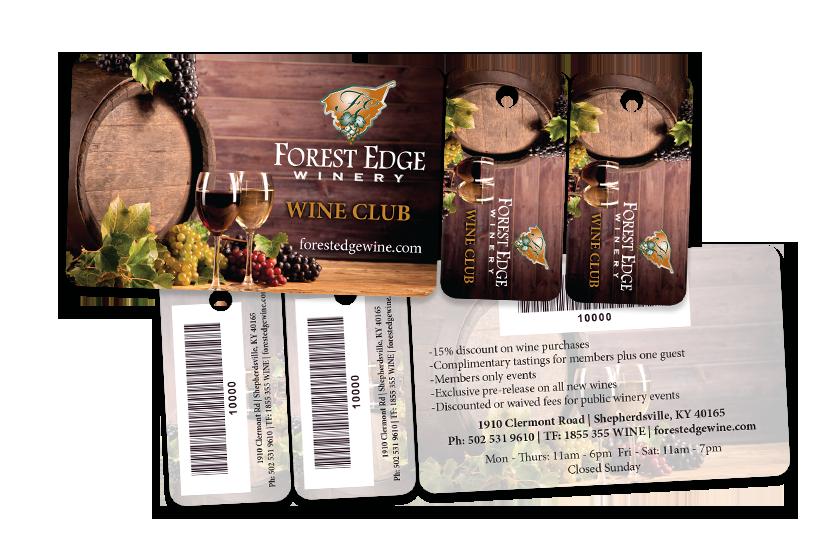 Wine Club Combo Card - Card Plus Key Tag Combo