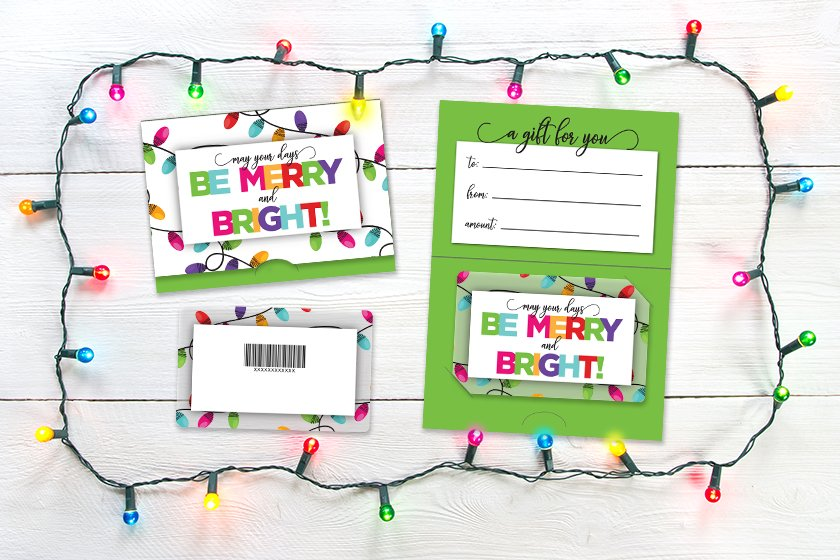 Christmas gift card designs for winter holidays