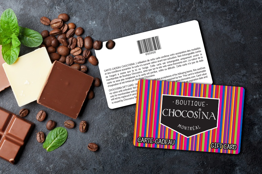 Custom plastic gift cards with a colorful design