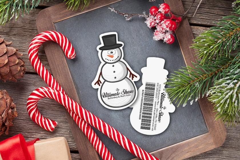 Gift-Card-Barcode-Snowman-The-Ultimate-Shave-Barbershop-Salon-KT1481-J041481-Sample