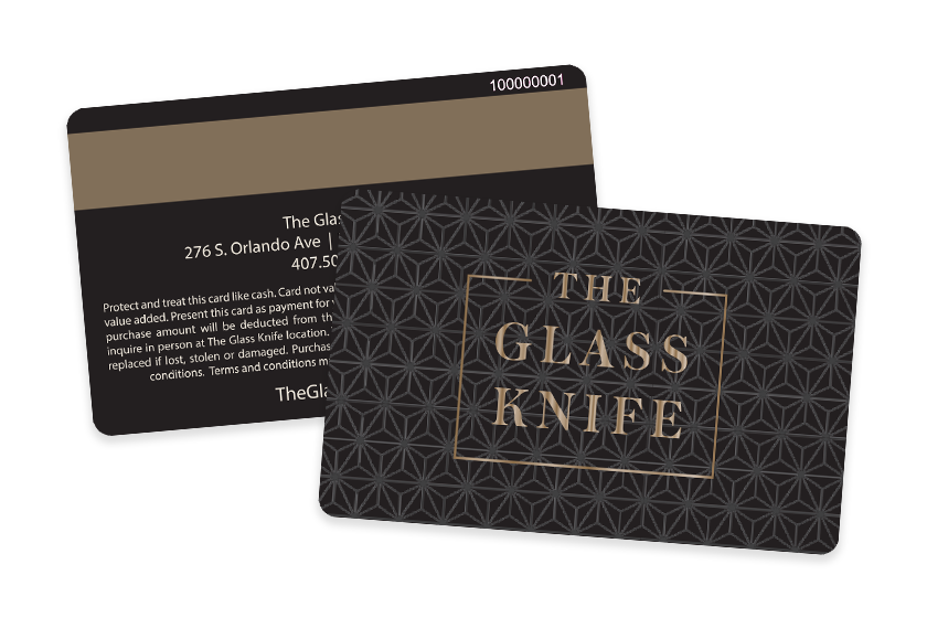 Restaurant Gift Cards for The Glass Knife