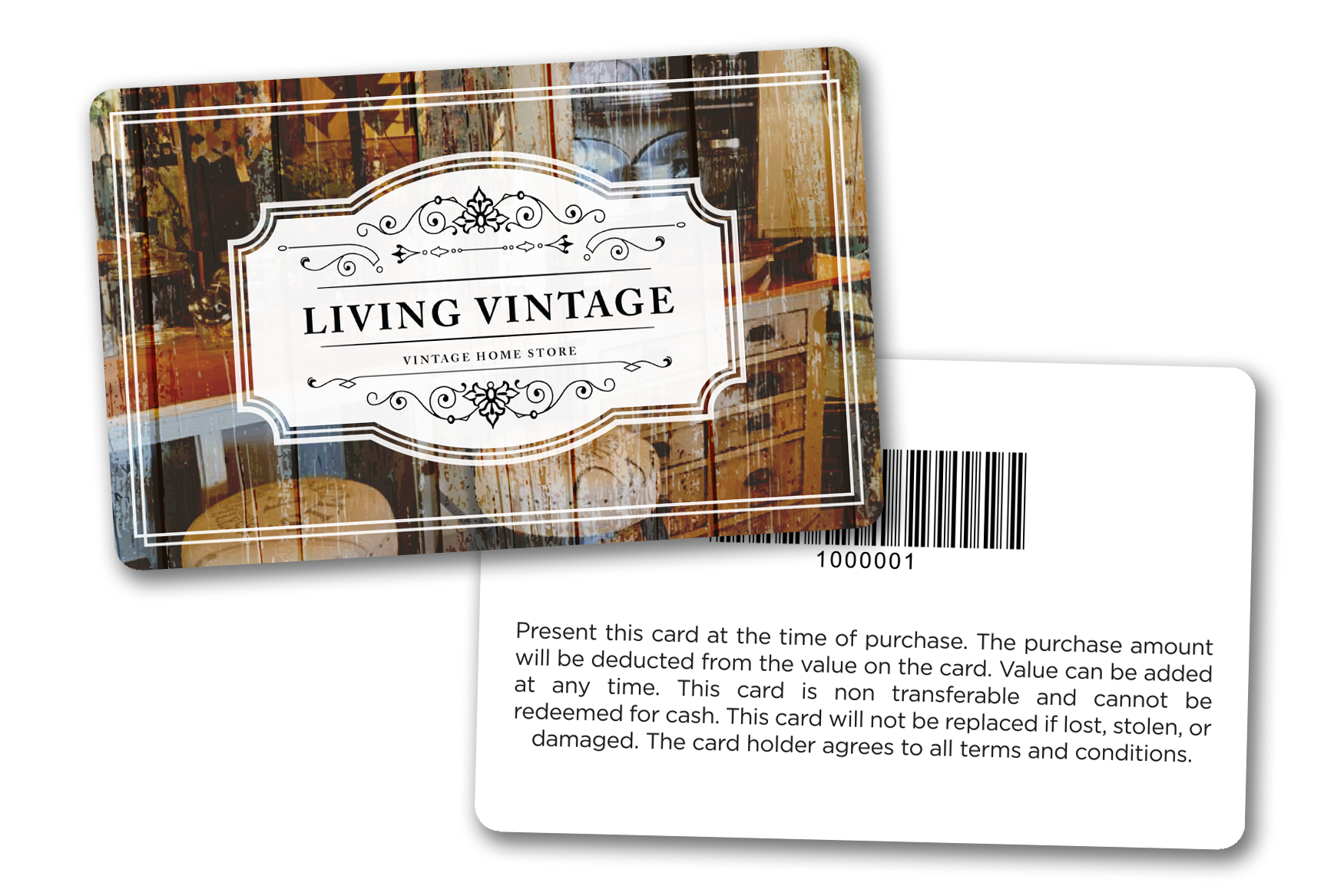 Custom Gift Cards for Living Vintage - A Vintage Home Store