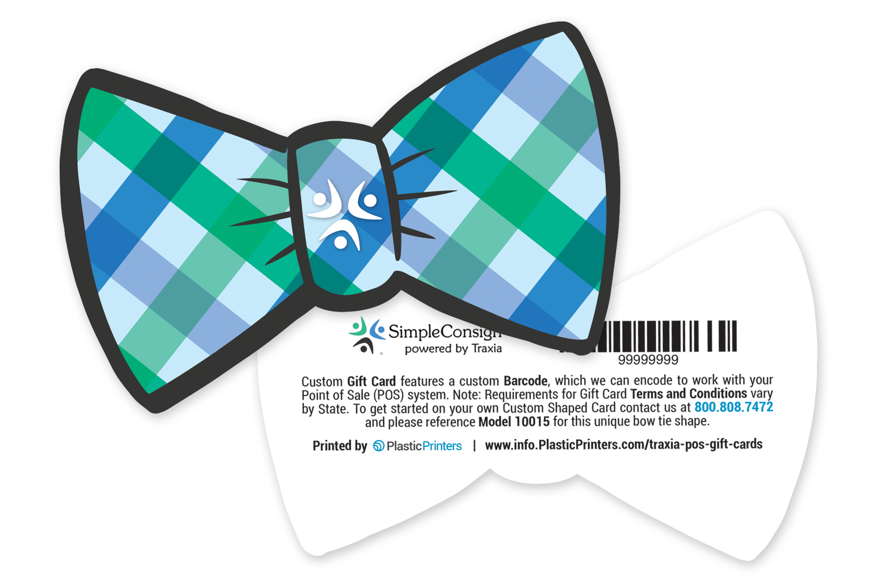 Bow Tie Shaped Gift Card for Simple Consign Powered by Traxia