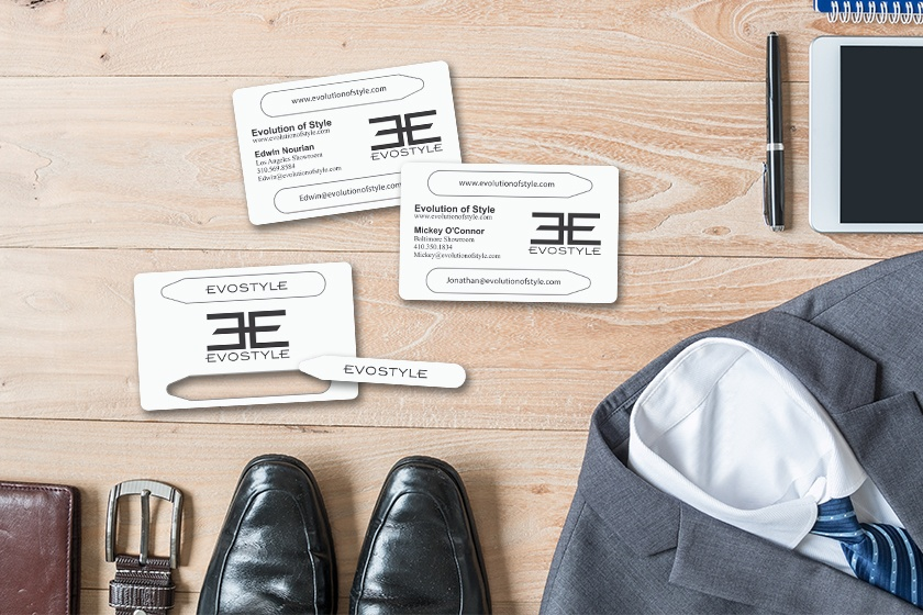 Custom business cards with a promotional pop out