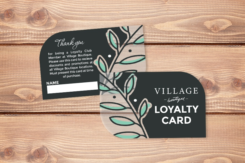 Example of design elements for creating loyalty cards