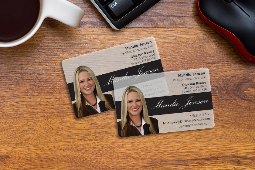 Custom business cards for a realtor