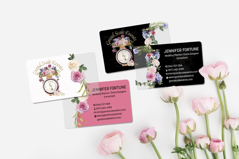 Business Cards with Social Media Handles