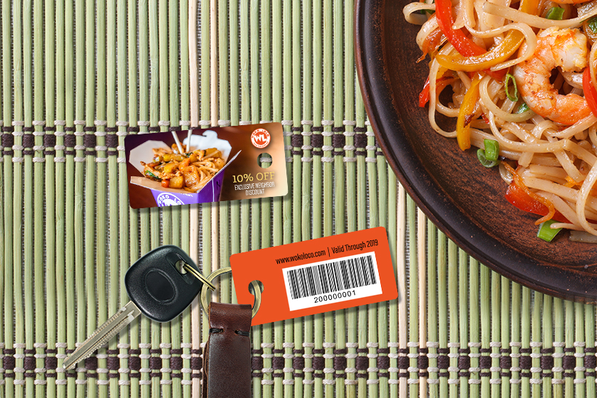 Example of trackable discount cards