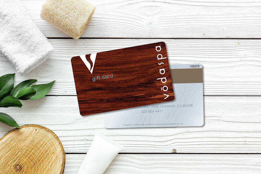 Gift card design to look like wood